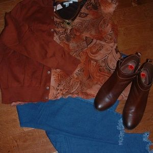 Dress Barn Size XL Rust Shirt